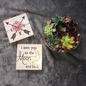 Farmhouse Small String Art Pictures w prop